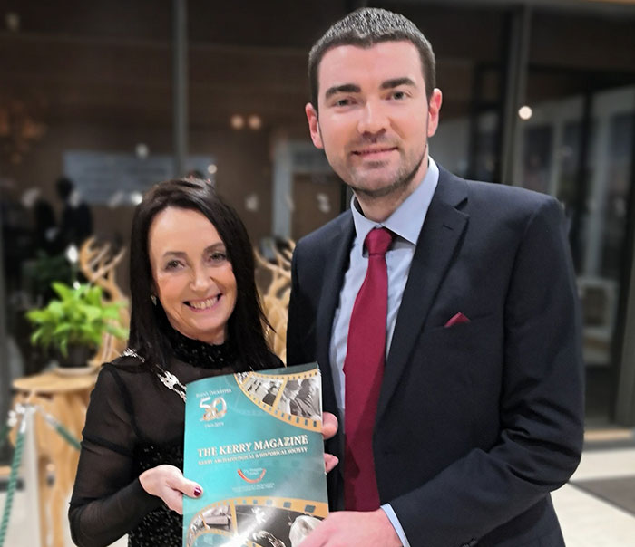 Marie O'Sullivan with Brendan Griffin